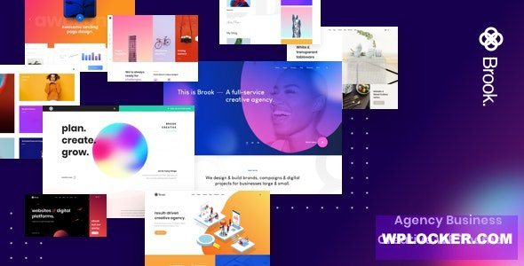Download free Brook v2.1.0 – Agency Business Creative WordPress Theme