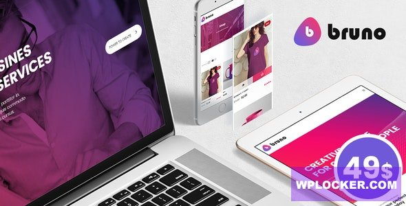 Download free Bruno v1.8 – Creative Multi Purpose WordPress Theme