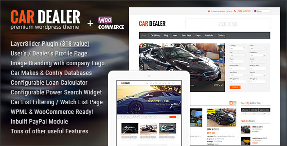 Download free Car Dealer v1.5.2 – Automotive Responsive WordPress Theme