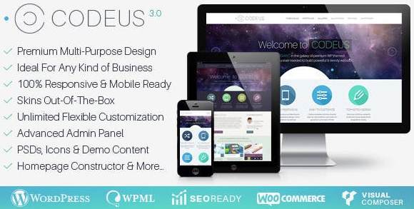Download free Codeus v3.4.1 – Multi-Purpose Responsive WordPress Theme