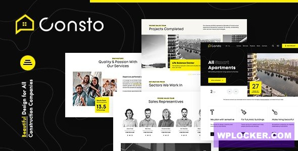 Download free Consto v1.0.1 – Industrial Construction Company Theme