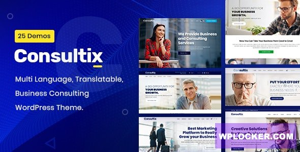 Download free Consultix v2.1.6 – Business Consulting WordPress Theme