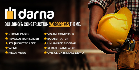 Download free Darna v1.2.5 – Building & Construction WordPress Theme