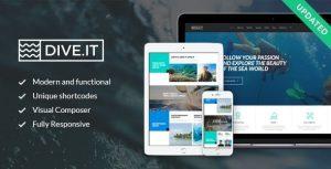 Download free DiveIt v1.3.2 – Scuba Diving School, Sea Adventure & Travel WordPress Theme