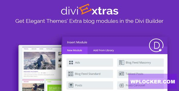 Download free Divi Extras v1.1.5 – Extra Theme Blog Modules Added To Divi Builder