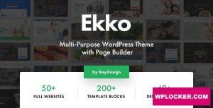 Download free Ekko v2.2 – Multi-Purpose WordPress Theme with Page Builder