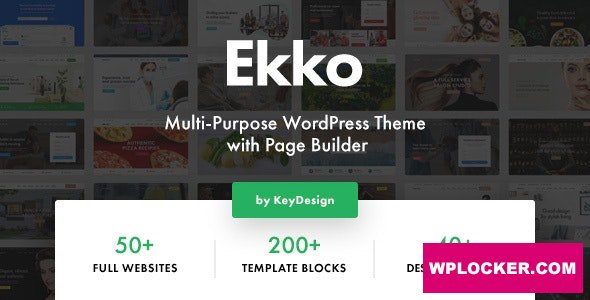Download free Ekko v2.2 – Multi-Purpose WordPress Theme with Page Builder