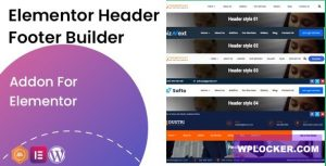 Download free Elementor Header Footer Builder v1.0.2 – Addon