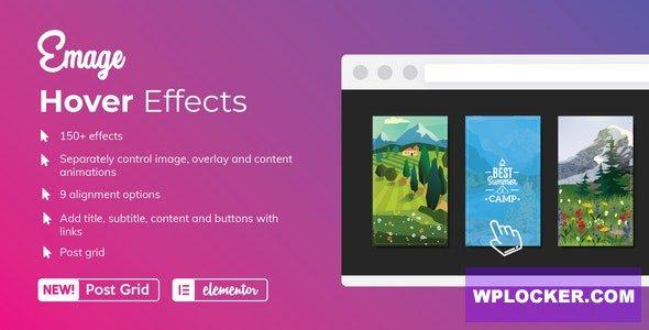 Download free Emage v4.3.0 – Image Hover Effects for Elementor