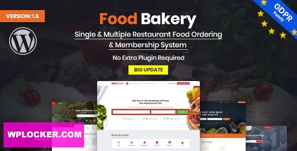 Download free FoodBakery v2.0 – Food Delivery Restaurant Directory WordPress Theme
