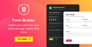 Download free Form Builder v1.5.1 – WordPress Form plugin