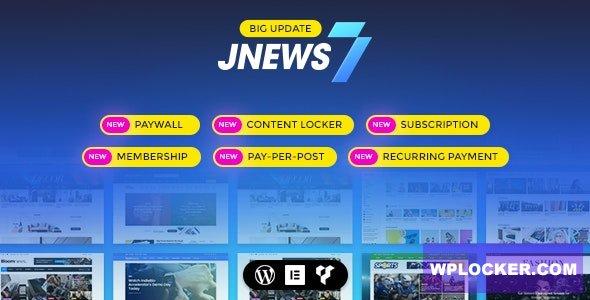 Download free JNews v7.1.0 – WordPress Newspaper Magazine Blog AMP