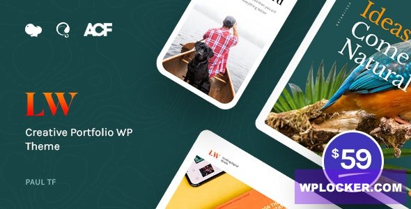 Download free Lewis v1.0.1 – Creative Portfolio WordPress Theme
