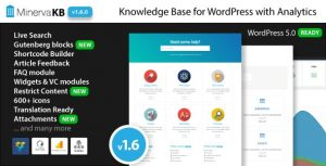Download free MinervaKB v1.6.9 – Knowledge Base for WordPress with Analytics