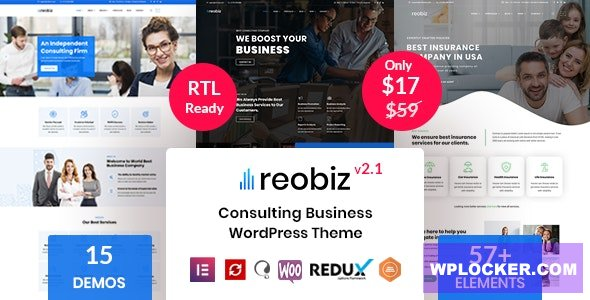 Download free Reobiz v2.1 – Consulting Business WordPress Theme