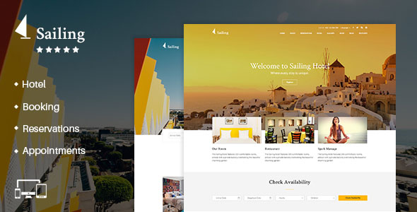 Download free Sailing v4.1.4 – Hotel WordPress Theme
