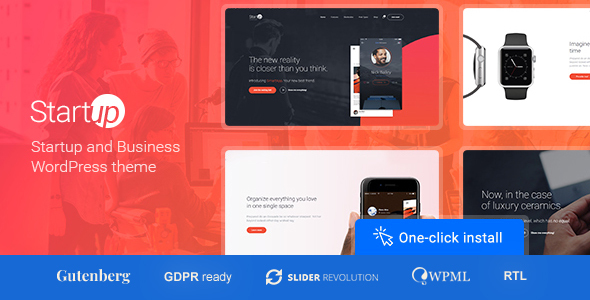 Download free Startup Company v1.1.0 – Theme for Business & Technology