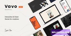 Download free Vavo v2.2.1 – An Interactive & Clean Theme for Creatives