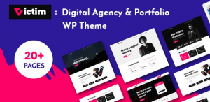 Download free Victim v1.0.5 – Digital Agency & Portfolio WordPress Theme