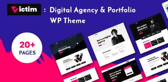 Download free Victim v1.0.5 – Digital Agency & Portfolio WordPress Theme