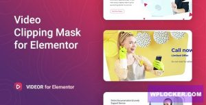 Download free Videor v1.0.3 – Video Clipping Mask for Elementor