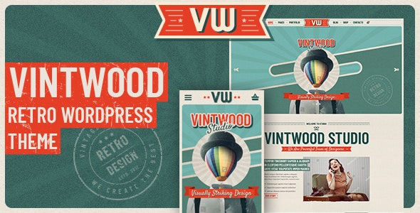Download free VintWood v1.0.7 – a Vintage, Retro WordPress Theme