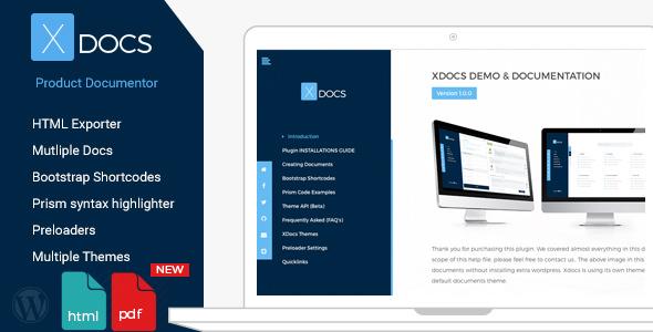 Download free X Docs v1.0.9 – WordPress Product Documentation Creator