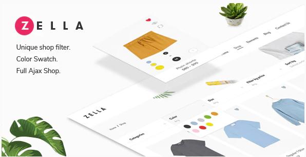 Download free Zella v2.1.9 – WooCommerce AJAX WordPress Theme – RTL support