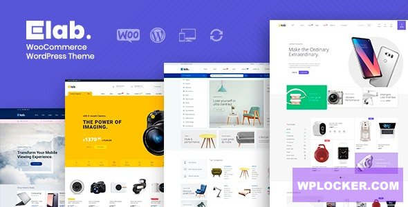 Download free eLab v1.2.2 – WooCommerce Marketplace WordPress Theme