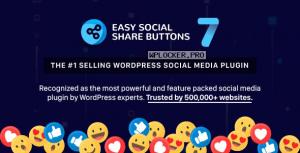 Easy Social Share Buttons for WordPress v7.4