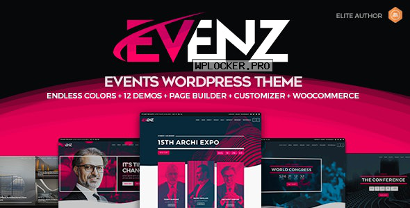 Evenz v1.2.4 – Conference and Event WordPress Theme