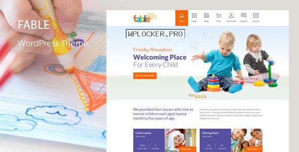 Fable v3.7 – Children Kindergarten WordPress Theme