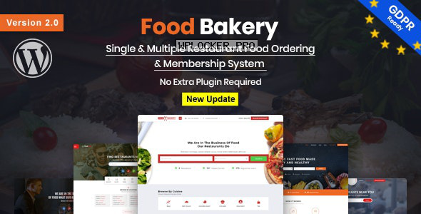 FoodBakery v2.0 – Food Delivery Restaurant Directory WordPress Theme