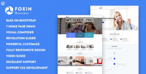 Foxin v1.1.1 – Responsive Business WordPress Theme