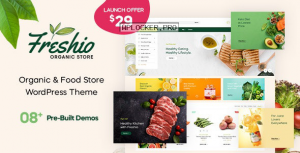 Freshio v1.0.0 – Organic & Food Store WordPress Theme