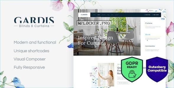 Gardis v1.2.2 – Blinds and Curtains Studio & Shop WordPress Theme