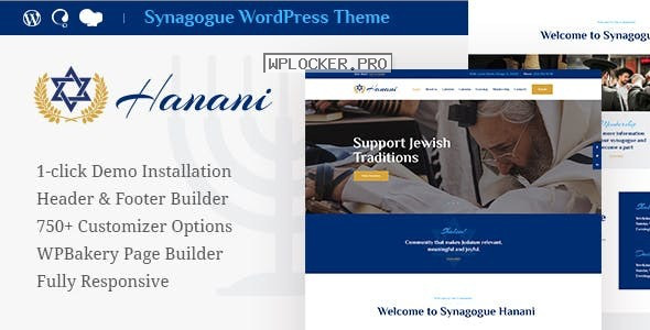 Hanani v1.1.1 – Jewish Community & Synagogue Theme