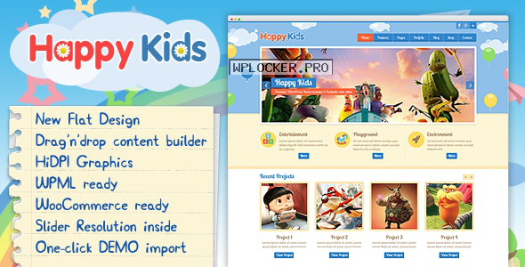 Happy Kids v3.5.2 – Children WordPress Theme