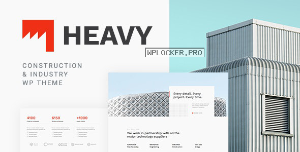 Heavy v1.0.2 – Industrial WordPress Theme