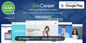 JobCareer v3.6 – Job Board Responsive WordPress Theme