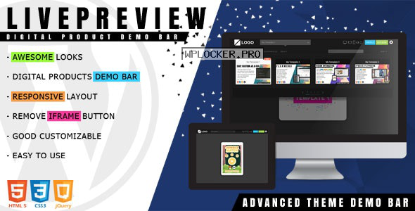 LivePreview v1.2.2 – Theme Demo Bar for WordPress