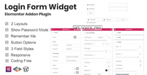Login Form Widget Elementor Addon Plugin v1.0.1