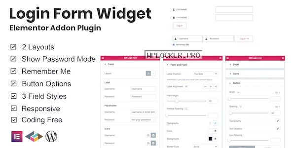 Login Form Widget Elementor Addon Plugin v1.0.1