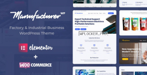 Manufacturer v1.2.2 – Factory and Industrial WordPress Theme