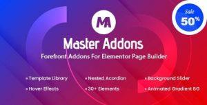Master Addons for Elementor (Pro) v1.5.6
