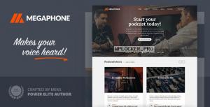 Megaphone v1.2.1 – Audio Podcast WordPress Theme