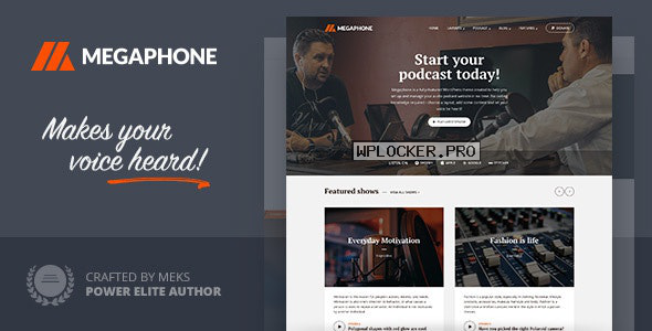 Megaphone v1.2.1 – Audio Podcast WordPress Theme