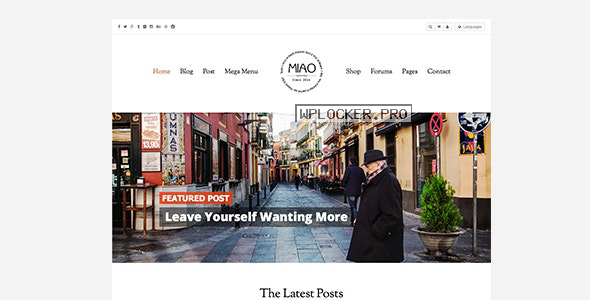 Miao v1.1.2 – Fashion Magazine, News & Blog WordPress Theme