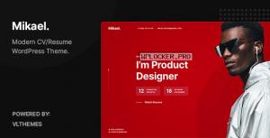 Mikael v1.0.2 – Modern & Creative CV/Resume WordPress Theme