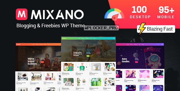 Mixano v1.1.6 – Minimal WordPress Theme